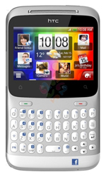 HTC ChaCha Silver No Extra Phone Cost